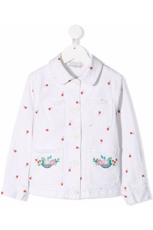 Stella McCartney Floral-embroidered denim jacket
