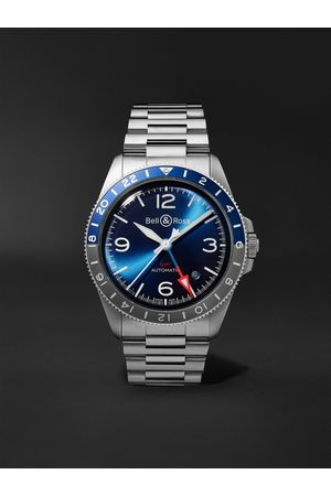 Bell & Ross Homme Montres - BR V2-93 Automatic 41mm Stainless Steel Watch, Ref. No. BRV293-BLU-ST/SST