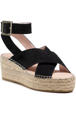 MANEBI Femme Chaussures compensées & Plateformes - Espadrilles - Wedges W Belt K 1.0 Wb Black