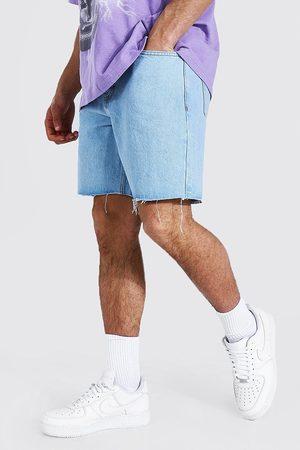 Boohoo Homme Shorts en jean - Short de jean à ourlet frangé Homme