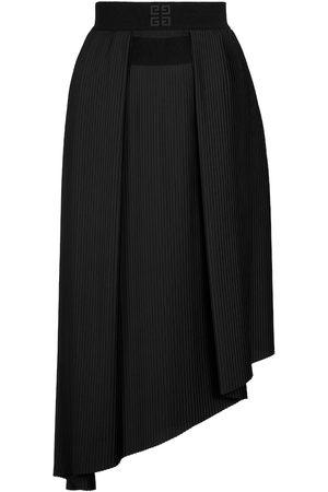 Givenchy Jupe asymétrique en crêpe de soie