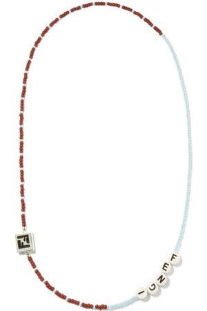 Fendi Homme Colliers - Collier en perles à logo
