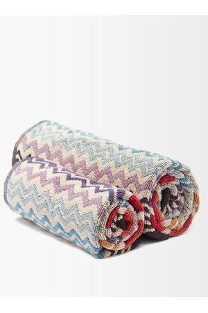 Missoni Ensembles - Ensemble de deux serviettes en coton éponge Rufus