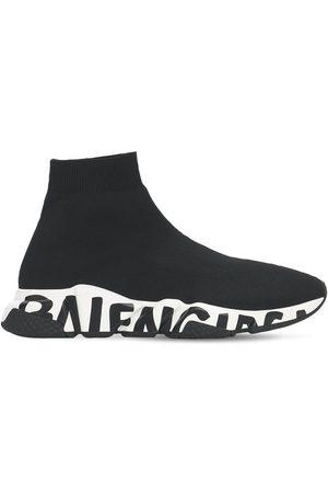 "Balenciaga Sneakers En Maille ""speed Graffiti"" 30 Mm"