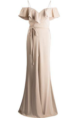 Marchesa Notte Femme Robes de soirée - Robe longue à volants
