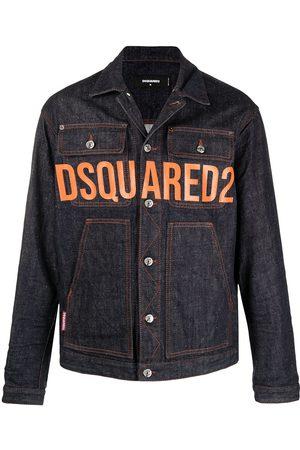 Dsquared2 Veste en jean à logo imprimé
