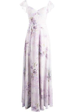 Marchesa Notte Femme Robes de soirée - Robe longue à fleurs
