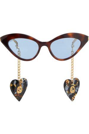 Gucci Lunettes de soleil œil-de-chat