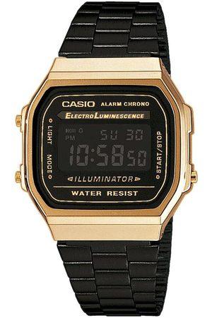 Casio Homme Montres - Montre - Vintage A168WEGB-1BEF Black/Gold