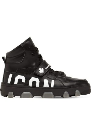 "Dsquared2 Homme Chaussures - Baskets Montantes En Cuir ""basket Icon"""