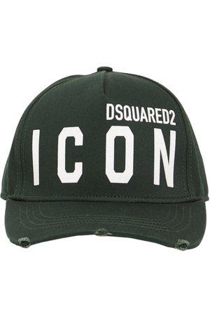 Dsquared2 Casquette En Gabardine De Coton Détail Icon