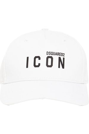Dsquared2 Casquette En Gabardine De Coton Imprimé Icon