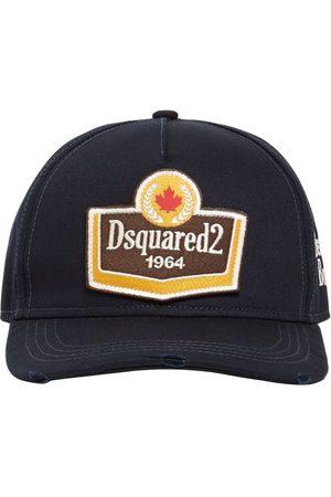 Dsquared2 Homme Casquettes - Casquette En Gabardine De Coton Avec Patch