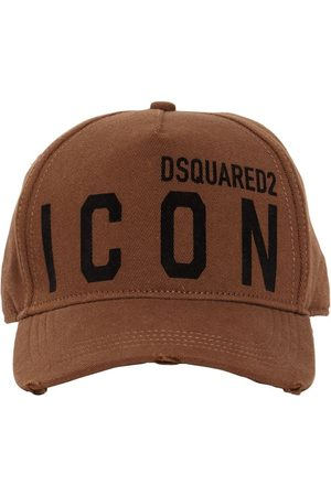 Dsquared2 Homme Casquettes - Casquette En Gabardine De Coton Détail Icon