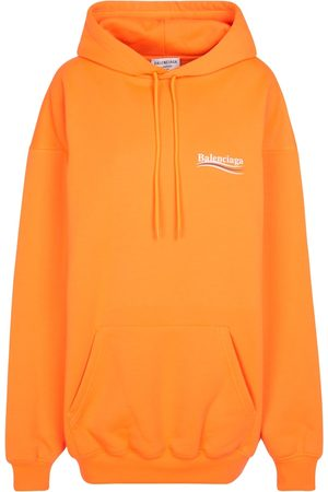 Balenciaga Sweat-shirt à capuche en coton mélangé