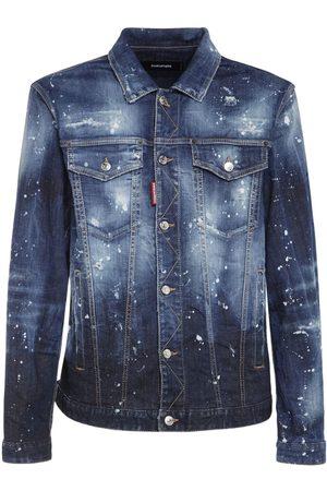 Dsquared2 Homme Vestes en jean - Veste En Denim De Coton Imprimé