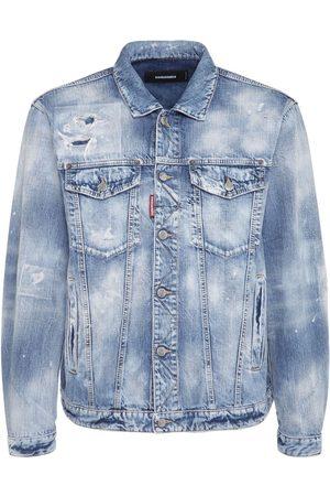 Dsquared2 Homme Vestes en jean - Veste En Denim De Coton Usé