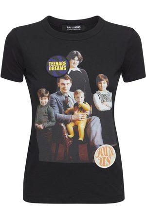 RAF SIMONS T-shirt En Jersey De Coton Imprimé