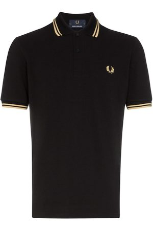 Fred Perry Homme Polos - Polo à longues manches et bordures rayées