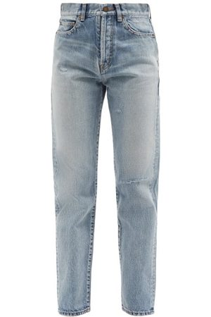 Saint Laurent Femme Taille haute - Jean slim taille haute effet vieilli