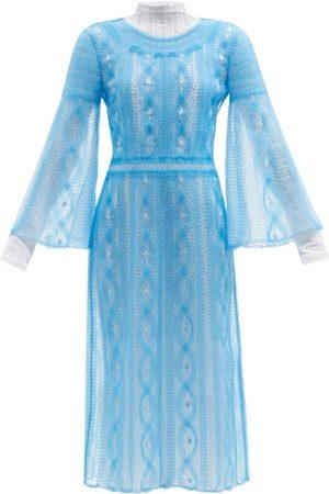 Fendi Femme Robes - Robe en résille brodée double épaisseur