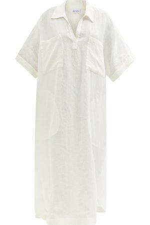Raey Robe en lin à smocks et poches plaquées