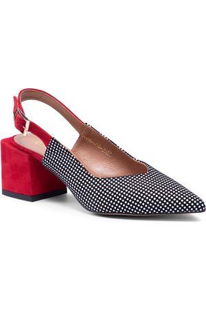 R. Polański Femme Sandales - Sandales R.POLAŃSKI - 1301 Czerwono/Czarny