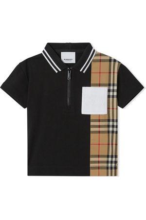 Burberry Polo zippé à motif Vintage Check