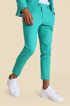 Boohooman Homme Pantalons Slim & Skinny - Skinny Green Suit Trouser Homme