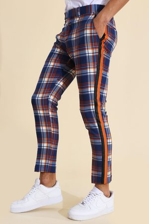 Boohoo Homme Pantalons Slim & Skinny - Super Skinny Check Taped Tailored Trouser Homme