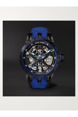 ROGER DUBUIS Homme Montres - Excalibur Huracán Automatic Skeleton 45mm Titanium and Rubber Watch, Ref. No. RDDBEX0749