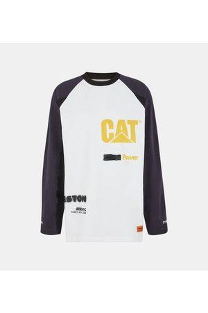 Heron Preston T-shirt large coton manches longues patchs contrastants