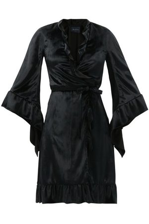Julie De Libran Femme Peignoirs - Robe portefeuille en velours Robe de Chambre