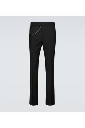 Givenchy Pantalon en laine à chaîne