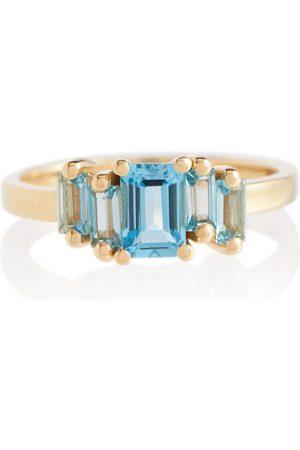 Suzanne Kalan Bague Amalfi en or 14 carats avec émeraude et topaze