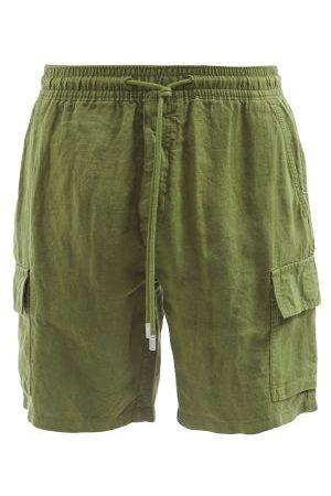 Vilebrequin Short en lin à poches plaquées Baie