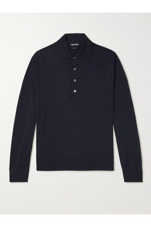 Tom Ford Homme Polos - Slim-Fit Wool Polo Shirt
