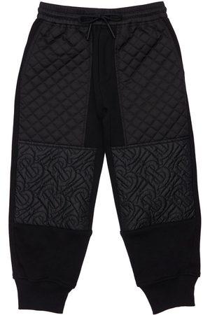 Burberry Pantalon De Sport En Coton Matelassé À Logo