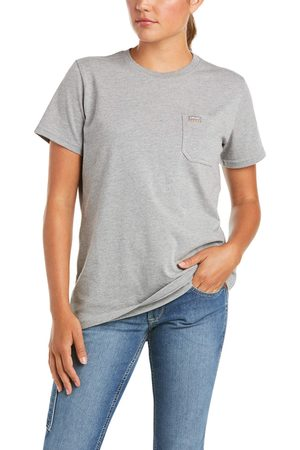 Ariat Women's Rebar Cotton Strong T-Shirt in Heather Grey