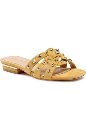 Alma en Pena Mules / sandales de bain - V21314 Suede Mustard