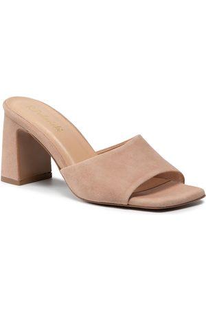 R. Polański Mules / sandales de bain R.POLAŃSKI - 1274/A Beżowy Zamsz