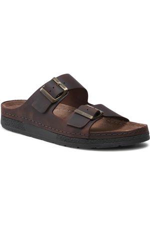 Berkemann Mules / sandales de bain - Adam 01950 Dunkelbraun/Schw 493
