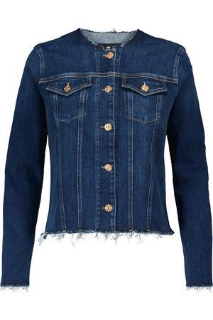 7 for all Mankind Femme Vestes en jean - Veste en jean Slim Illusion