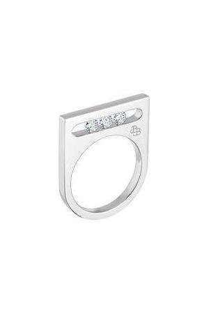 LA BRUNE & LA BLONDE Bague Funambule - 3 diamants