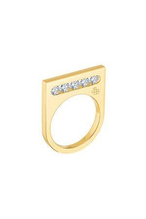 LA BRUNE & LA BLONDE Femme Bagues - Bague Funambule - 5 diamants