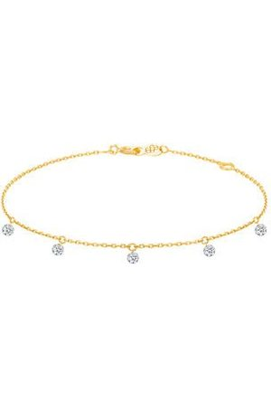 LA BRUNE & LA BLONDE Femme Bracelets - Bracelet 360° - 5 diamants - poids total 0,35ct approx. - or 18kt