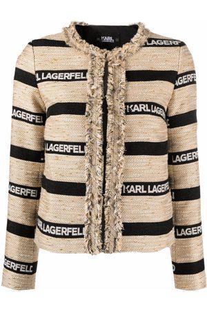 Karl Lagerfeld Veste à logo imprimé