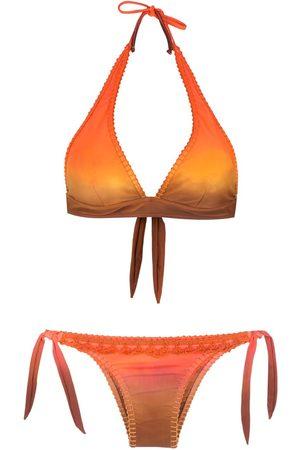 AMIR SLAMA Bikini tie-dye à broderies