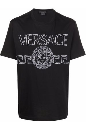 VERSACE Homme Débardeurs - Logo-embroidered T-shirt