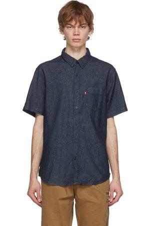 Levi's Chemise à manches courtes Sunset indigo en chanvre